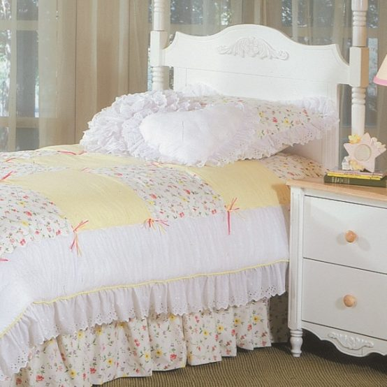 mini floral bunk bed hugger