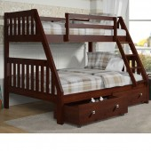 Twin Full Bunk Bed with drawers (1018-3CP & 505CP) 600