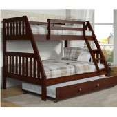 Twin Full Bunk Bed with trundle(1018-3CP & 503CP) 600