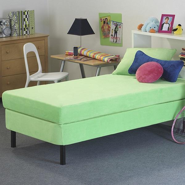 Kids Memory Foam Mattress 8 Quot Green Waterproof Cover