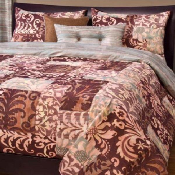 Patchwork Bedding Barcelona Fitted Bed Cap Comforter Set