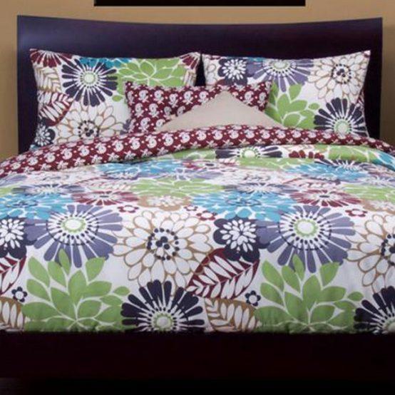 Large Floral Bedding Blooming Bulb Harvest Bed Cap Set