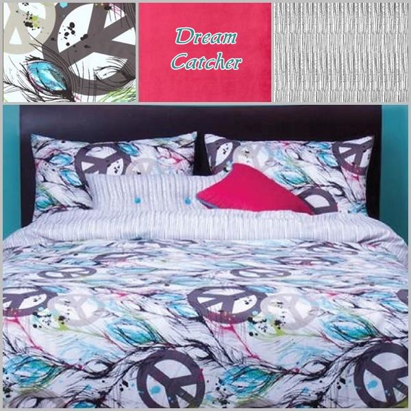 Peace Sign Bedding Dream Catcher Peach Sign Comforter Set
