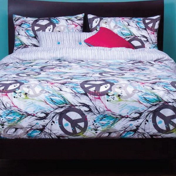 Attrayant Peace Sign Bedding
