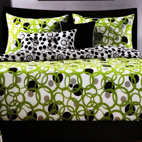 Dot Bedding Full Circle Fitted Cap Comforter Set