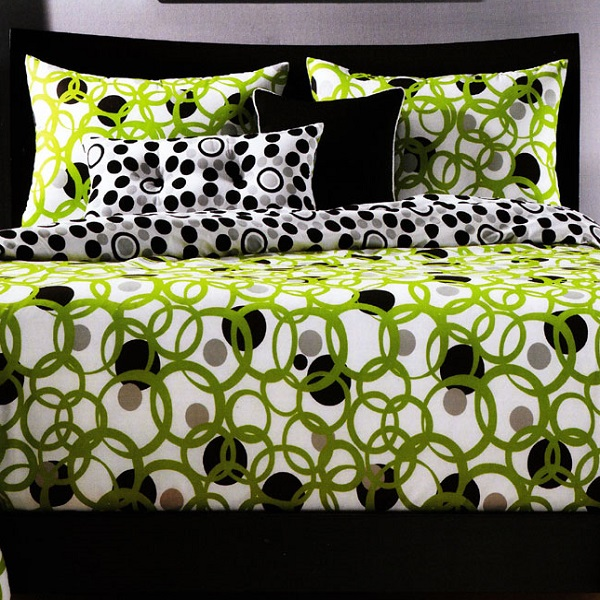 Dot Bedding Full Circle Fitted Cap Comforter Set