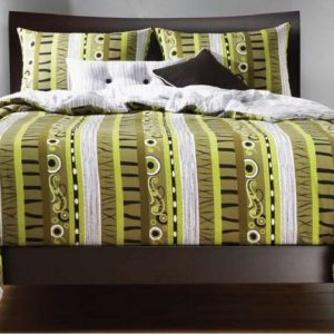 black green bedding