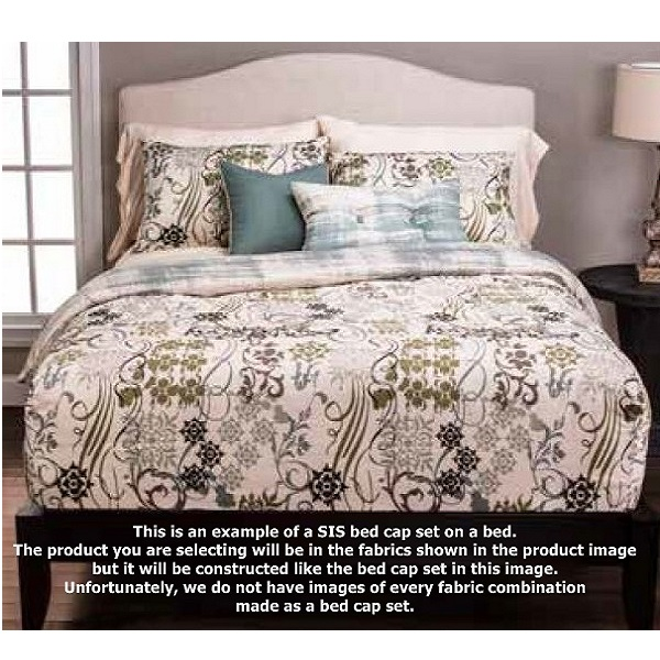 ... bed cap fitted comforter showing how it's fitted on ... - Tribal Pattern Bedding - Jordan Fitted Bed Cap Comforter Set