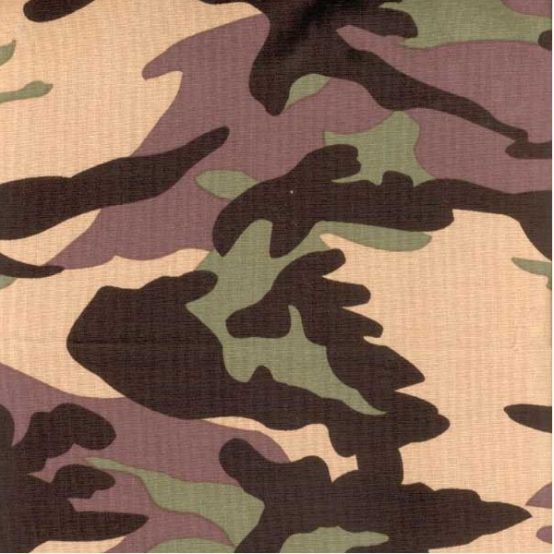 Camouflage fabric for custom bedding