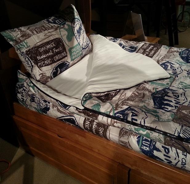 Zipper Bedding Bunkie All In One Zip Up Comforter For Bunks