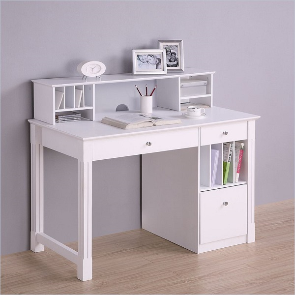 Desk With Hutch Solid Wood White Storage Desk Hutch