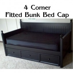 4 corner fitted bunk bed cap comforter