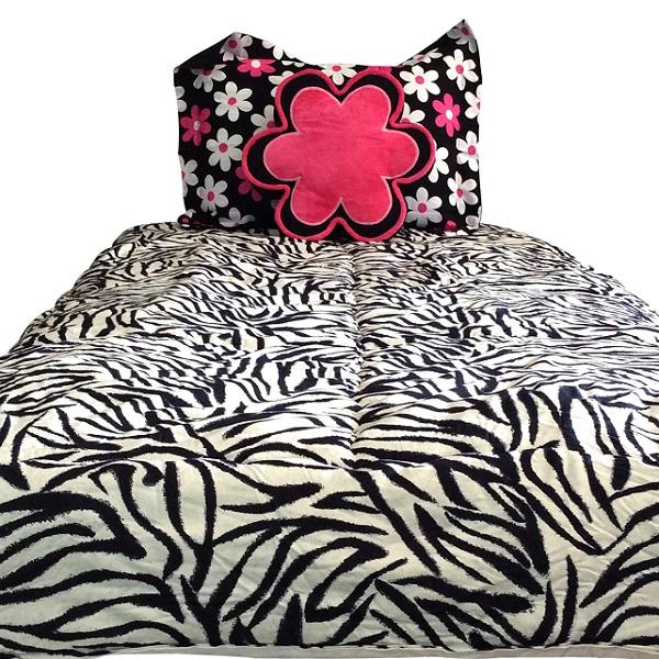 Zebra Bunk Bed Hugger Zebby Jane Pink Mod Floral Accents