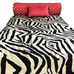Zebby Dot Bunk Bed Hugger Zebra and Pink Bedding