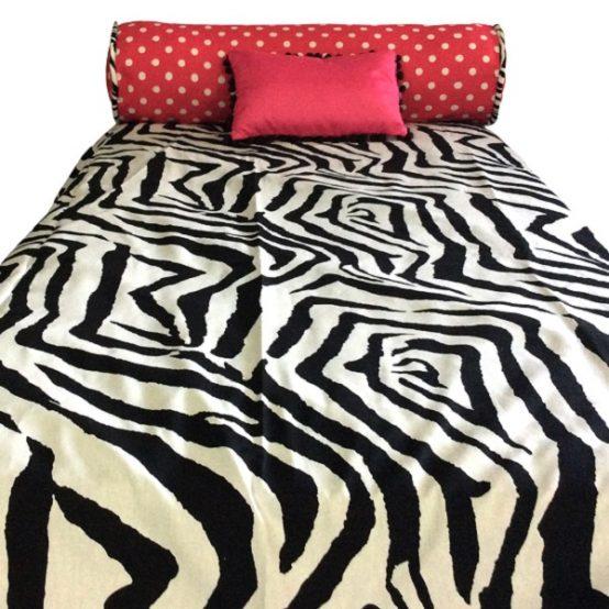 Zebby Dot Bunk Bed Hugger Zebra and Pink Bedding