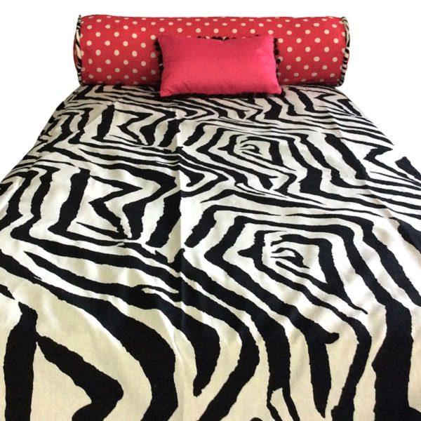 Zebby Dot Bunk Bed Hugger Zebra Pink Bedding For Bunks