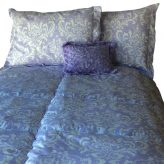 Oz Lilac Bunk Bed Hugger Damask Print Bedding