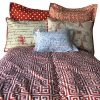 Tower Red Bunk Bed Hugger - Greek Key Bedding for Bunk Beds
