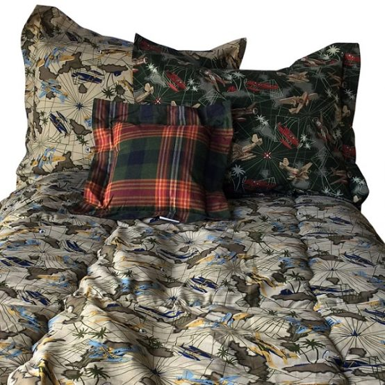 Fighter Planes Khaki Bunk Bed Bedding