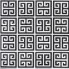 Towers Black White Fabric