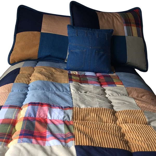 Campus Bunk Bed Hugger Patchwork Bedding For Loft Beds