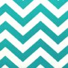 True Turquoise Zig Zag Fabric for Bunk Bedding
