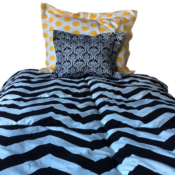 Zippy Bunk Bed Hugger Wide Chevron Bedding For Bunks