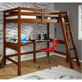 Study loft bed with desk