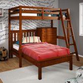 loft bed, platform bed, dresser combo