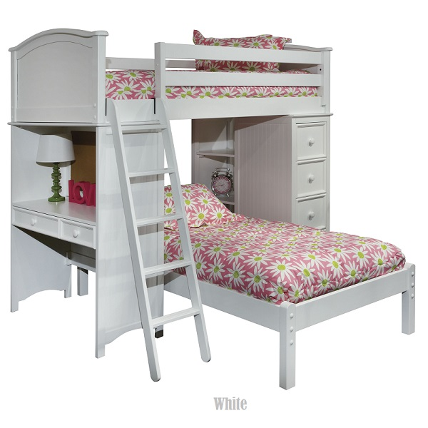 Cooley Sleep Study Loft Twin Bed Storage 600 x 600