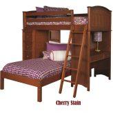 99169931600 Sleep & Study Loft Bed in Cherry Finish - Bolton