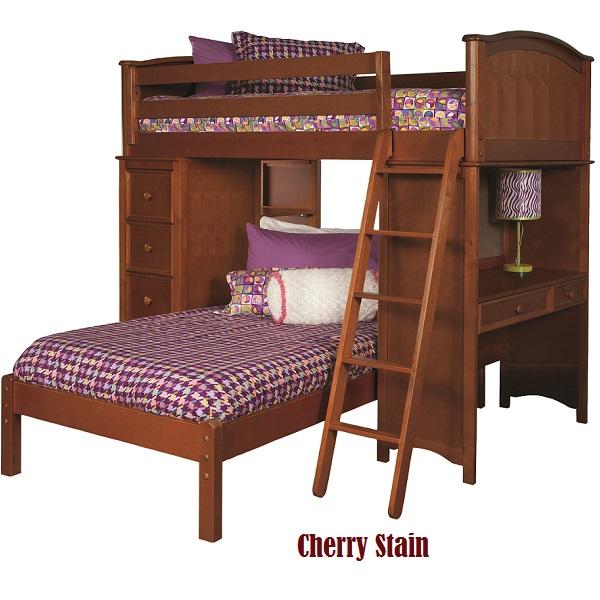 99169931600 Sleep Study Loft Bed In Cherry Finish Bolton