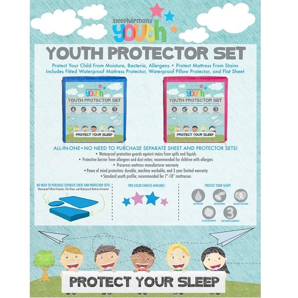 Mattress Protector Sleep Harmony Youth Protector Set