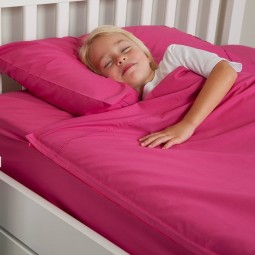 kids sheets with zippers in fuchsia