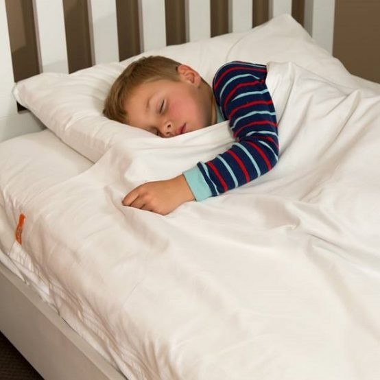 kids sheets with zips in 100% white cotton