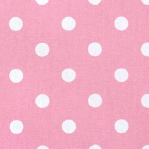 Baby Pink White Polka Dot fabric 420
