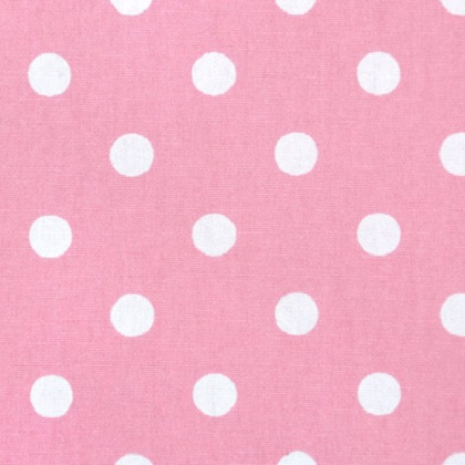 Baby Pink White Polka Dot Fabric For Custom Bedding
