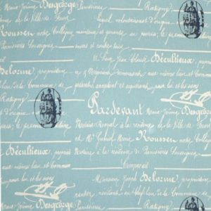 arctic blue natural penmanship fabric 420