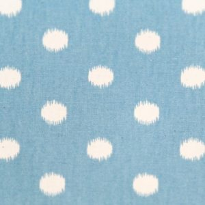 arctic soft blue natural ikat dot fabric 420