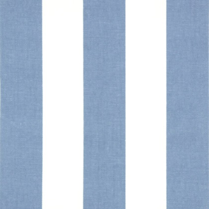 Baby Blue and White Canopy Stripe Fabric