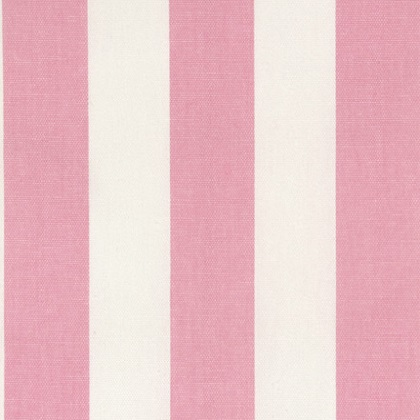 Baby Pink and White Canopy Stripe Fabric