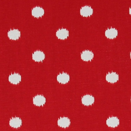 Lipstick Ikat Dot Fabric For Custom Fitted Bedding