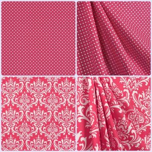 candy pink collection of fabrics for custom bedding