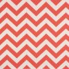 Coral White Zig Zag Fabric for Bunk Bedding