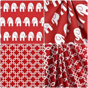 lipstick white collection of fabrics for bunk huggers