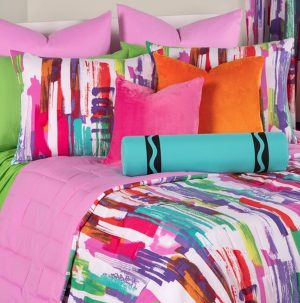 Brush Up Bed Cap Comforter Set with Sham and Two Toss Pillows