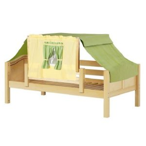 Natural Curve Daybed with Green & Yellow Top Tent
