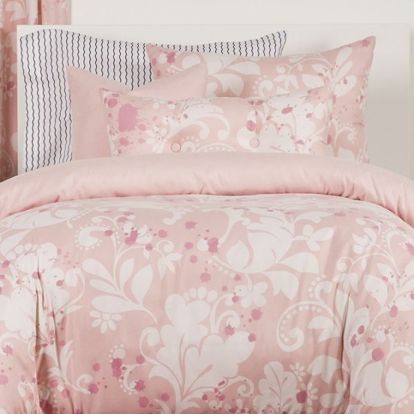 Feminine Bedding In Pink Fitted Eloise Bed Cap Comforter Set
