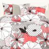 Bold Floral Bedding Flower Patch Bed Cap Comforter Set with Sham and Two Toss Pillows
