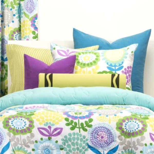 Crayola Bedding Fitted Pointillist Pansy Bed Cap